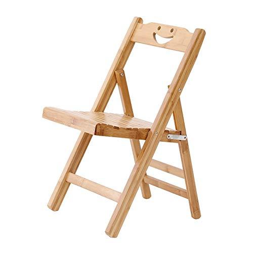 COLiJOL Klappstuhl Aus Bambus, Tragbarer Hocker-Angelstuhl, Klappstuhl, Freizeit-Bürostuhl. Klapptreppe Klapppedal Stabiler Klapphocker