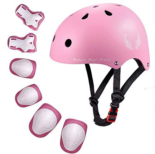 Orieta Kids Bike Helmet Toddler Helmet Adjustable Kids Helmet CPSC Certified Ages 3-10 Years Old Boys Girls Multi-Sport Safety Cycling Skating Scooter Helmet (Pink, S)