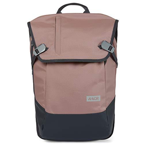 AEVOR Daypack - erweiterbarer Rucksack, wasserfest, ergonomisch, Laptopfach - Proof Rose - Rosa