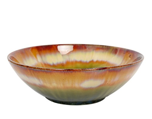 Hosley 9 Inch Diameter Multi Colored Ceramic Bowl. Ideal Gift for Wedding Special Events Perfect for Everyday Use Bowl Orbs Aromatherapy Spa Reiki Meditation Settings. O4