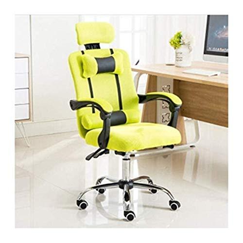 WANGXIAOYUE Gaming Stuhl Bürostuhl PC Stuhl Massage Lendenwirbelstütze Vantage Style High Back Einstellbarer Drehstuhl Kniestuhl (Color : Yellow)