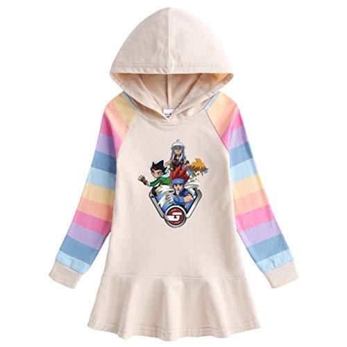 Bowfkgjk Beyblade Pullover Thinner Airy Outwear Western Stil Sweatshirt Eleganter Pullover Schöne langärmlige Mäntel Netto Rot Weiche Hoodies for Jungen und Mädchen Junge und Mädchen