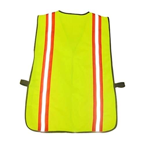 ChengBeautiful Ropa De Trabajo Reflectante Seguridad Chaleco Reflectante for el tráfico de construcción Correr Correr Ciclismo Manténgase (Color : Fluorescent Yellow, Size : Large)
