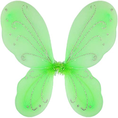 Yuxi Butterfly Wings Dress Up,Fairy Wings for Toddler Girls,Adult Fairy Wings for Women Costume Accessories(Green)