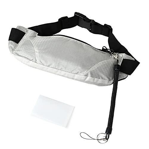 e.product ウエストポーチ バッグ ランニング 防水 大容量 キッズ スマホ 超軽量 マスクケース付 全5色 (ホワイト) (004b-white)