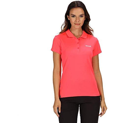 Regatta Damen Maverick Iv Active Poloshirt, schnelltrocknend XX-Small neon pink