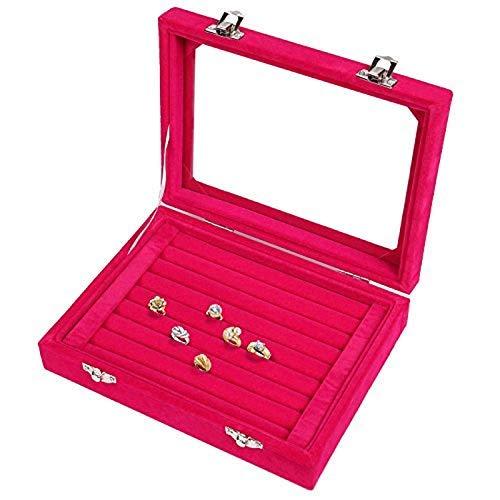 Hclars Nueva Caja de joyería para Mujeres, Caja de joyería, Caja de joyería, Caja de Almacenamiento, Anillo, Pendientes, Collar