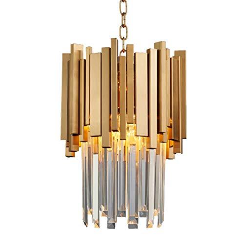 LED-Kristalldeckenleuchte Kleine runde Gold Küche Leuchter-Beleuchtung Moderne Luxus-Lampe für Esszimmer Foyer Chrom Pendelleuchten
