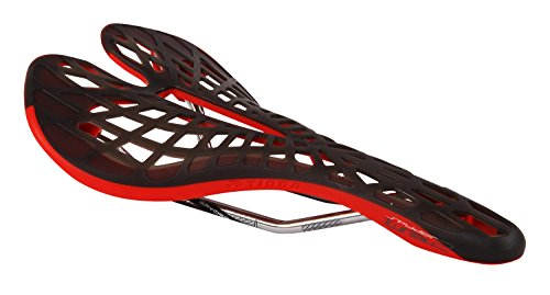 Tioga VVT Spyder Twin Tail 2 Sillín Unisex, Color Rojo