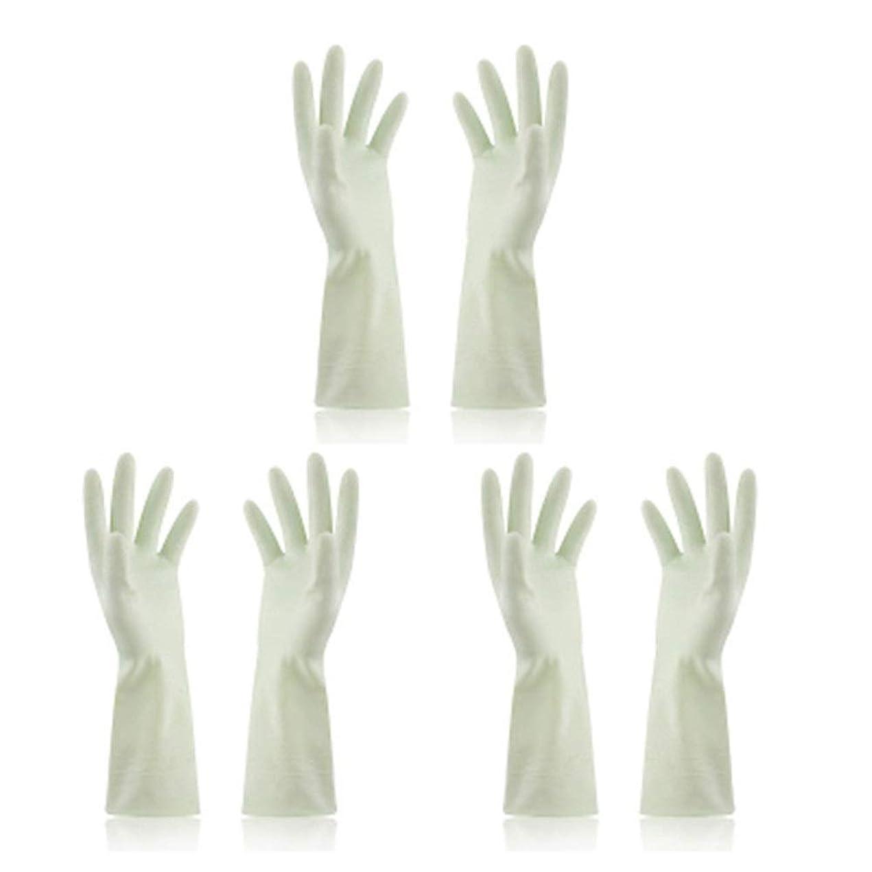 素人戸惑うおもちゃBTXXYJP キッチン用手袋 手袋 食器洗い 炊事 作業 食器洗い 掃除 園芸 洗車 防水 防油 手袋 (Color : Green, Size : M)