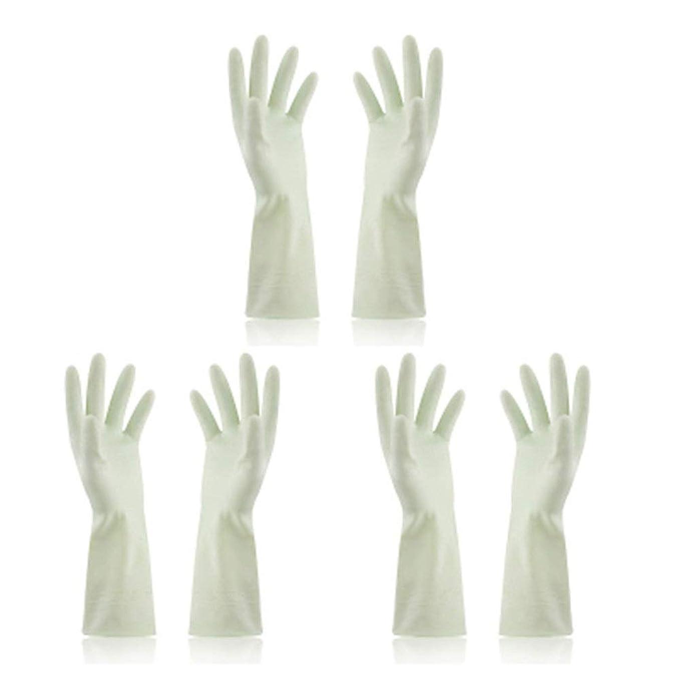 把握ご予約時計回りBTXXYJP キッチン用手袋 手袋 食器洗い 炊事 作業 食器洗い 掃除 園芸 洗車 防水 防油 手袋 (Color : Green, Size : M)