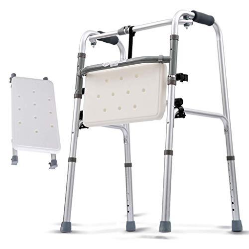 RVTYR Leichtes Aluminium Faltbare Gehen Gehhilfe, Rollator, 2-in-1-Walker mit entfernbarer Sitz gehhilfen senioren