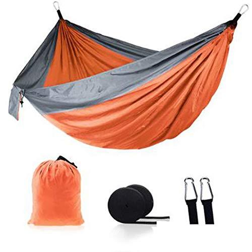 Ultra ligero al aire libre camping nylon hamaca dormir columpio árbol cama jardín patio trasero muebles colgante doble hamaca silla colgante cojín 12