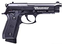 FULL-SIZE ALL METAL FRAME/SLIDE - For realistic weight and handling FUELED BY A 12-gram CO2 CARTRIDGE - Delivers speeds up to 400 FPS 19-ROUND REMOVABLE MAGAZINE - Compatible with traditional 4. 5 mm steel BBs THUMB SAFETY - Ergonomically placed cont...
