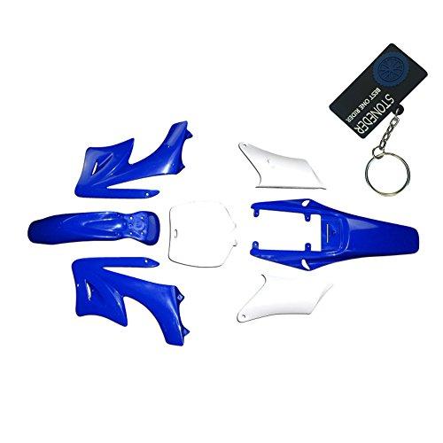 STONEDER azul 7 piezas de plástico de alta resistencia Fender carenado Cuerpo kits para chino 47cc 49cc 2 tiempos Apollo Orion suciedad mini bici