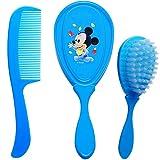 alles-meine.de GmbH 2 TLG. Set _ weiche Haarbürste + Haarkamm - Disney - Mickey Mouse - Babyhaarbürste + Kinderhaarbürste - für Jungen / Kinder Baby - antiziep blau Accessoires -..