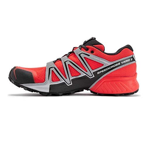 Salomon Speedcross Vario 2 Trail Running - Zapatillas de running para hombre, color Rojo, talla 44 2/3 EU