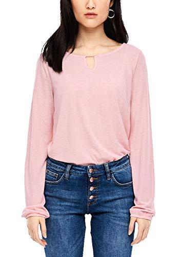 s.Oliver RED Label Damen Glitzershirt mit Stabperle Rose 46