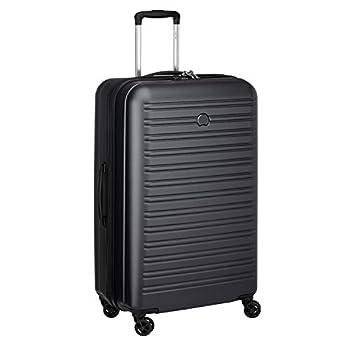 DELSEY PARIS - SEGUR 2.0 - Valise rigide à double roues et serrure TSA intégrée - 78cm, 105L, Noir