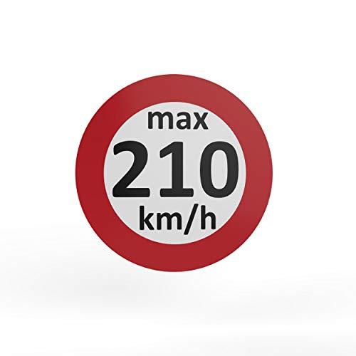 AUPROTEC - Pegatinas de velocidad para neumáticos de invierno (160-240 km/h, 10 unidades, 210 km/h)