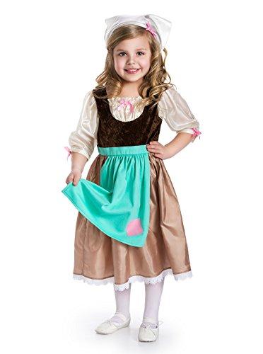 Little Adventures Cinderella Day Dress Princess Dress Up Costume for Girls Medium (Age 3-5)