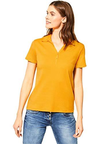 Cecil Damen 313339 Polo T-Shirt, Mango Yellow, XX-Large