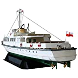 Huante Papel de Bricolaje Modelo 1: 100 Barco de Ferry de la Costa Polaca Ensamblar Trabajo Manual Juego de Rompecabezas 3D Juguete para Ni?Os