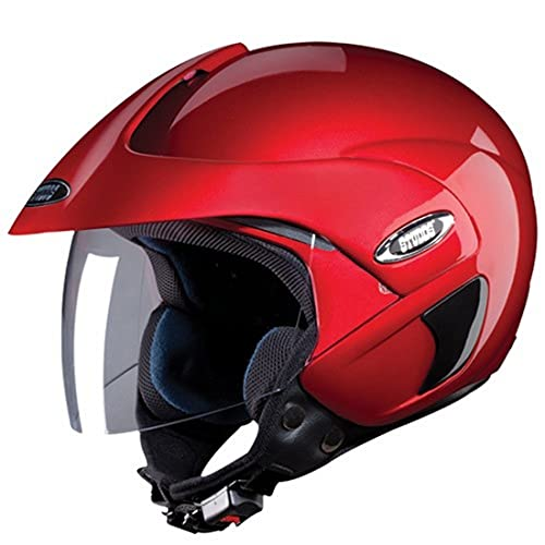 Studds Marshall SUS_MOFH_CREDL Open Face Helmet (Cherry Red, L)