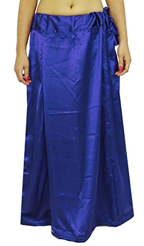 Indianbeautifulart Satin Silk Saree PetticoatUnderskirt Bollywood Indian Futter für Sari