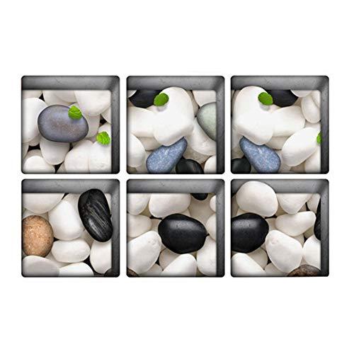 Oddity6 Piezas de calcomanías de baño Antideslizantes, Tiras de Seguridad para la Ducha, Adhesivos Antideslizantes para bañera, Cinta Antideslizante para Ducha, bañera