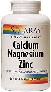 Solaray - Calcium Magnesium Zinc, 250 capsules (Pack of 3) , Solaray -frse