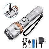 LED Taschenlampe, BINWO Extrem Hell 2000 Lumen Taschenlampe LED Wiederaufladbare Taktische...