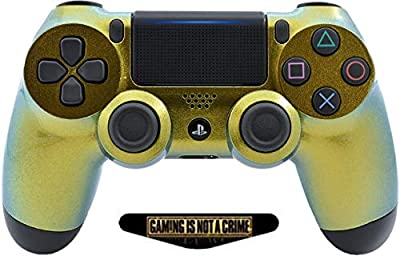 Chameleon Ps4 PRO Rapid Fire Custom Modded Controller 40 Mods for All Major Shooter Games, Auto Aim, Quick Scope, Auto Run, Sniper Breath, Jump Shot, Active Reload & More with Custom LIGHTBAR