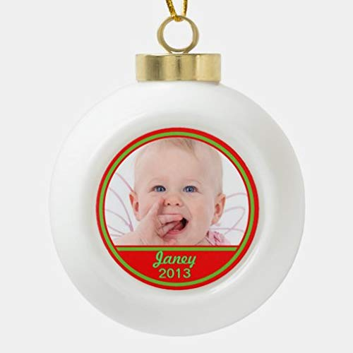onepicebest Christmas Ball Ornaments, Custom Photo Ornament Upload Your Photo Xmas Tree Hanging Balls Decorations Perfect for Holiday Wedding Christmas Decor