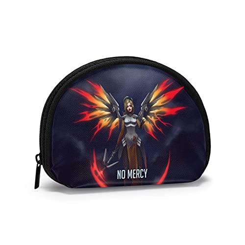 Sobre el reloj Mercy Shell bolsa lindo cambio, cosméticos Cómics bolsas de almacenamiento portátiles de viaje bolsas de aseo mujeres niña maquillaje bolsa regalo