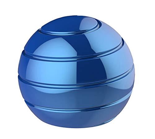 CaLeQi Kinetic Schreibtischspielzeug Office Metal Spinner Ball Gyroskop mit optischer Täuschung für Anti-Angst Stress abbauen Inspirieren Sie innere Kreativität (Blau)