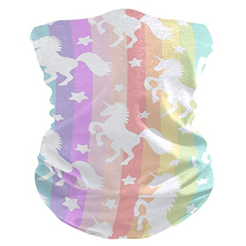 Niet van toepassing Masker Sweatband, Wit Uni_Corns Op Kleurrijke Strepen Masker Sweatband, Mode Hoofd Wrap Voor Party Outdoor Sport