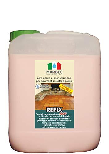 Marbec, Refix Matt - Cera de mantenimiento y protección para pavimentos de barro cocido, de piedra y grava tratados