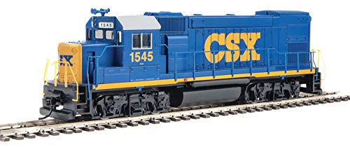 Walthers Trainline HO Scale Model EMD GP15-1 - Standard DC - CSX (YN3; Blue, Yellow, White