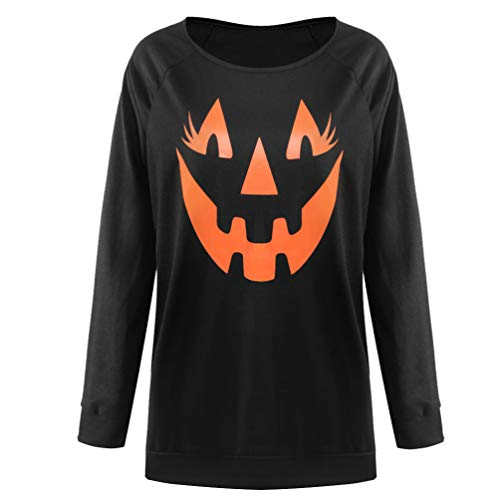 Ugitopi - Sudaderas para mujer sexis con hombros descubiertos, para Halloween