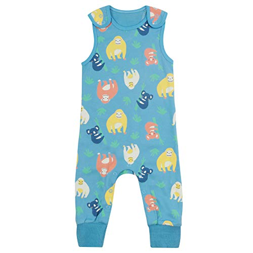 Piccalilly Salopette pour bébé + Tout-Petit, Doux + Confortable, Coton Biologique, Unisexe Orang-outan + imprimé Koala pour Filles et garçons - Multicolore - 3 Mois