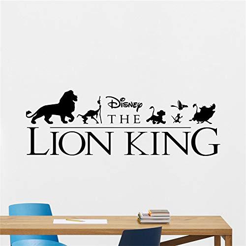 autocollant mural Roi Lion Sticker Roi Lion Sticker Simba Nursery Vinyle Autocollant De Bande Dessinée Décor Art Nursery vinyle decal