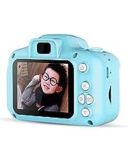 Kids Digital Video Camera Mini Rechargeable Children Camera Shockproof 8MP HD Toddler Cameras Child Camcorder Blue
