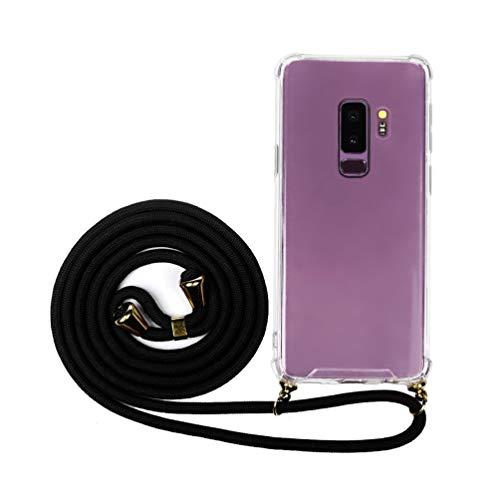 ACE Bilon - Funda para teléfono móvil Compatible con Samsung Galaxy S9 Plus, de Silicona, acrílico, Transparente, TPU, con Banda Protectora