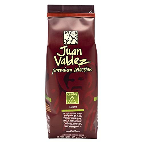 Juan Valdez, Premium Cumbre Caffè macinato, pacco da 500g.