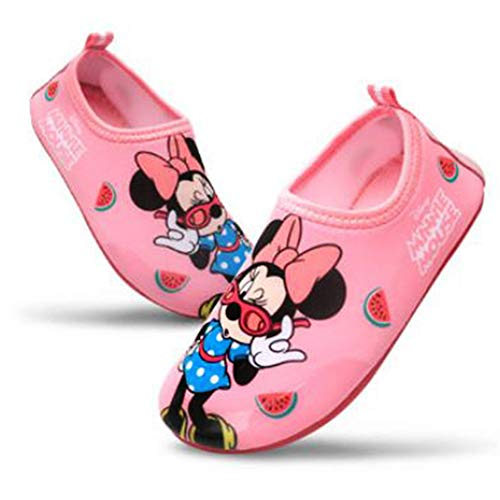 Joah Store Minnie Mouse Girls Water Shoes Swim Aqua Shoes Runs Small (Parallel Import/Generic Product) (8 M US Toddler)