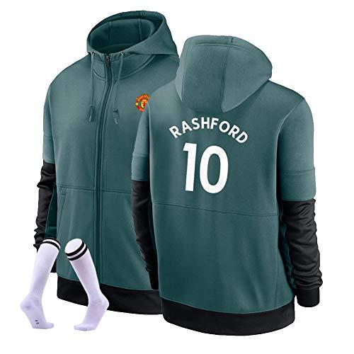 LJF Marcus Rashford # 10 Football Sudadera con Capucha Suéter De Fútbol Cálido Y Grueso Sudadera Unisex S-3XL (Color : E, Size : Adult XXX-Large)