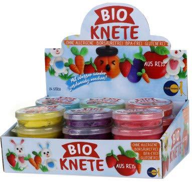 RG NEU! Bio Knete ohne Allergene, borsäurefrei, glutenfrei, aus Reis! 1 Stück, farblich Sortiert, Auswahl nach Zufallsprinzip