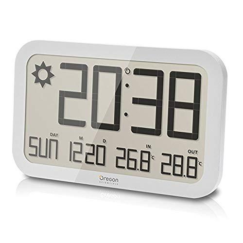 Oregon Scientific JW108 Barometro Digitale da Parete con Indicazione Temperatura In/Out, Bianco