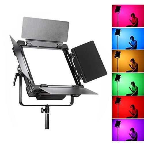 Falcon Eyes DESAL D-S711 100W RGB Soft LED Video Light Panel Bi Color 3000-5600K,mit 20 Lighting Effects,HSI Mode,CCT Mode